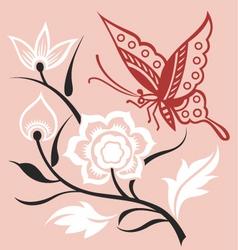 Artistic floral set vector