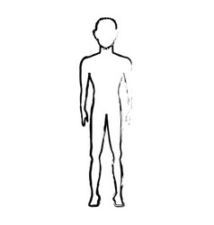 Blurred contour pictogram of human silhouette vector