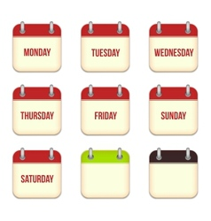 Calendar app icons vector