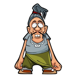 cartoon character funny man with a mustache vector image