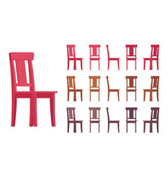 Chair interior set vector
