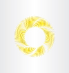 circle yellow sunshine abstract background vector image