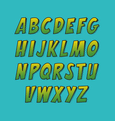 creative font alphabet collection set in the vector image vector image