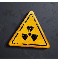 Danger sign of radioactivity vector
