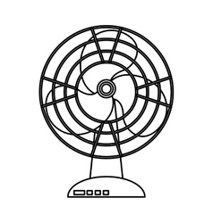Fan home appliance isolated icon vector