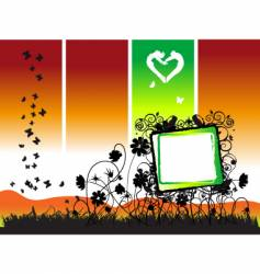 floral frame nature vector image vector image
