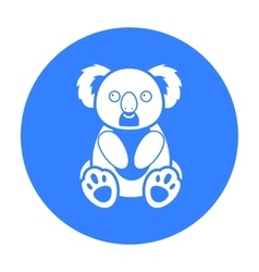 Koala icon black singe animal icon from the big vector