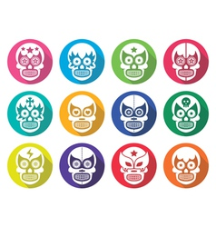 Lucha libre - mexican sugar skull flat design vector