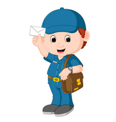postman cartoon vector image vector image