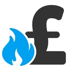 Pound financial fire flat icon symbol vector