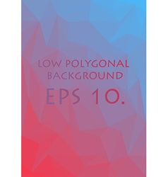 Red and blue low polygonal background vector image