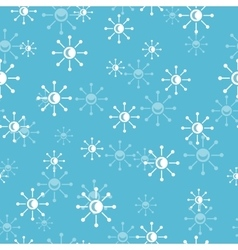 Snowflakes seamless pattern in flat design vector