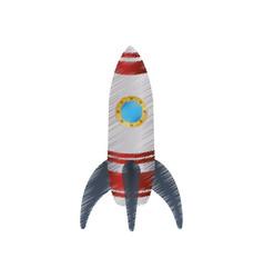 Spaceship start up symbol vector