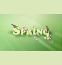 Spring word vector