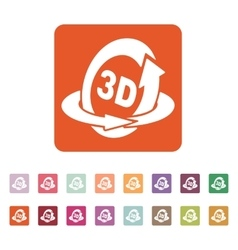 The 3d icon Rotation arrow symbol Flat vector image vector image