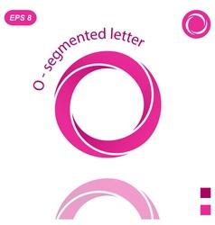 Three segmented o letter logo concept vector