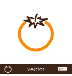 tomato outline icon vegetable vector image vector image