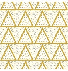 Triangles background with gold dots seamless vector