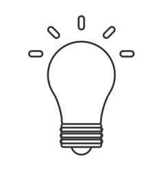 Light bulb energy power design vector