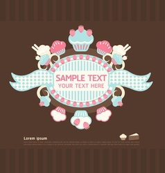 cake cards vector image