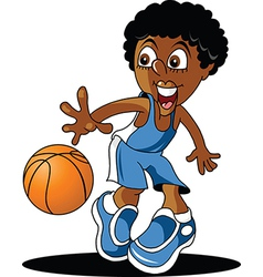 Junior basketball player vector image
