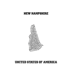 Label with map of new hampshire vector image