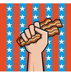 american bacon vector image