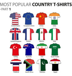 most popular country t-shirts part 1 vector image