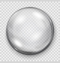transparent gray sphere with shadow vector image