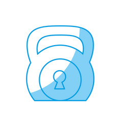 Security padlock icon vector