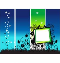 floral frame nature vector image