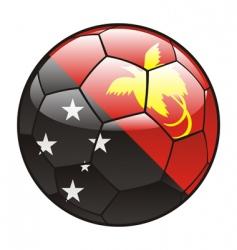 Papua New guinea flag on soccer ball vector image