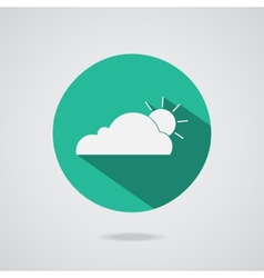 Abstract cloud icon teal button vector