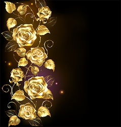 Twisted gold rose vector