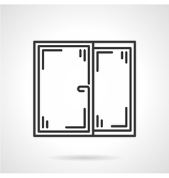 Window black line icon vector