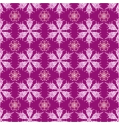 Hand-drawn doodles color snowflake seamless vector