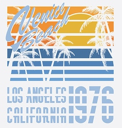 California venive beach typography t-shirt vector