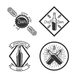 Vintage beer brewery emblems vector