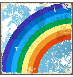 Abstract grunge background with rainbow vector image vector image