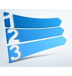 Abstract numbered banners vector