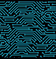 Circuit board seamless pattern background of vector