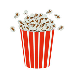 Color movie pop corn icon vector