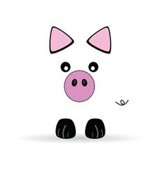 Cute little pig vector