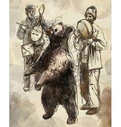 Dancing bear vector