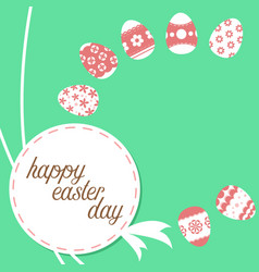 easter template vector image vector image