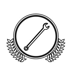 figure symbol wrench icon image vector image vector image