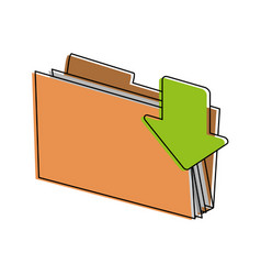 file folder icon image vector image