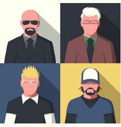 flat avatar portraits vector image vector image