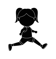 Girl running cartoon vector