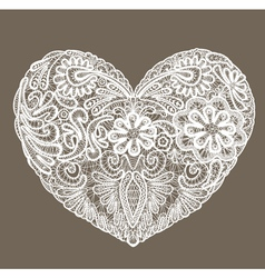 Heart shape is made of lace doily element for Vale vector image vector image